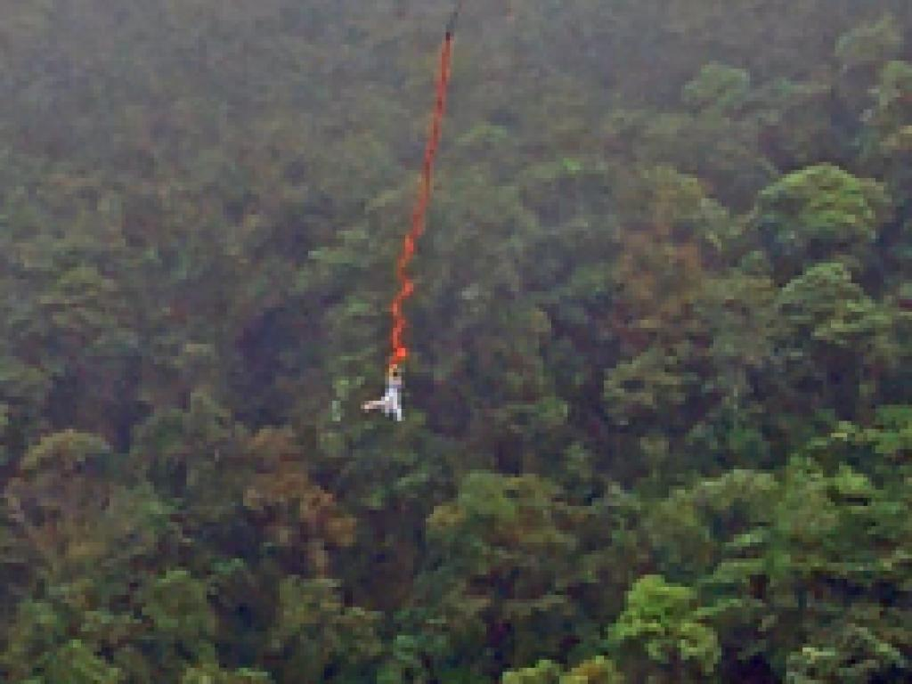 Bungee Jumping into a Rainbow Costa Rica Extremo