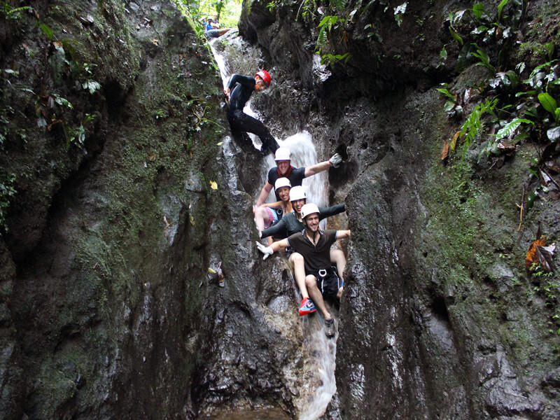 Getting Wet Canyoneering Arenal Costa Rica