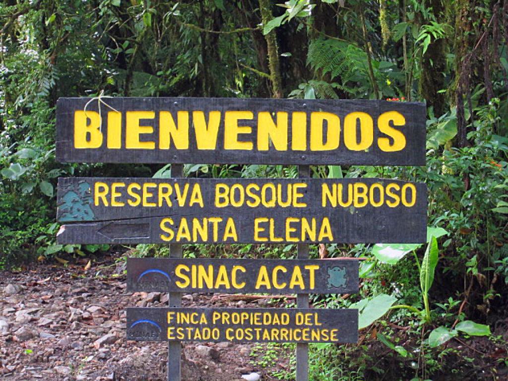 Entrance Santa Elena Reserve
