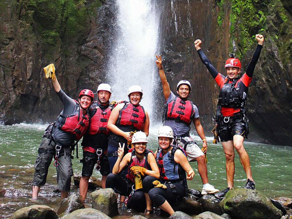 Canyoning Costa Rica Waterfall Jumping