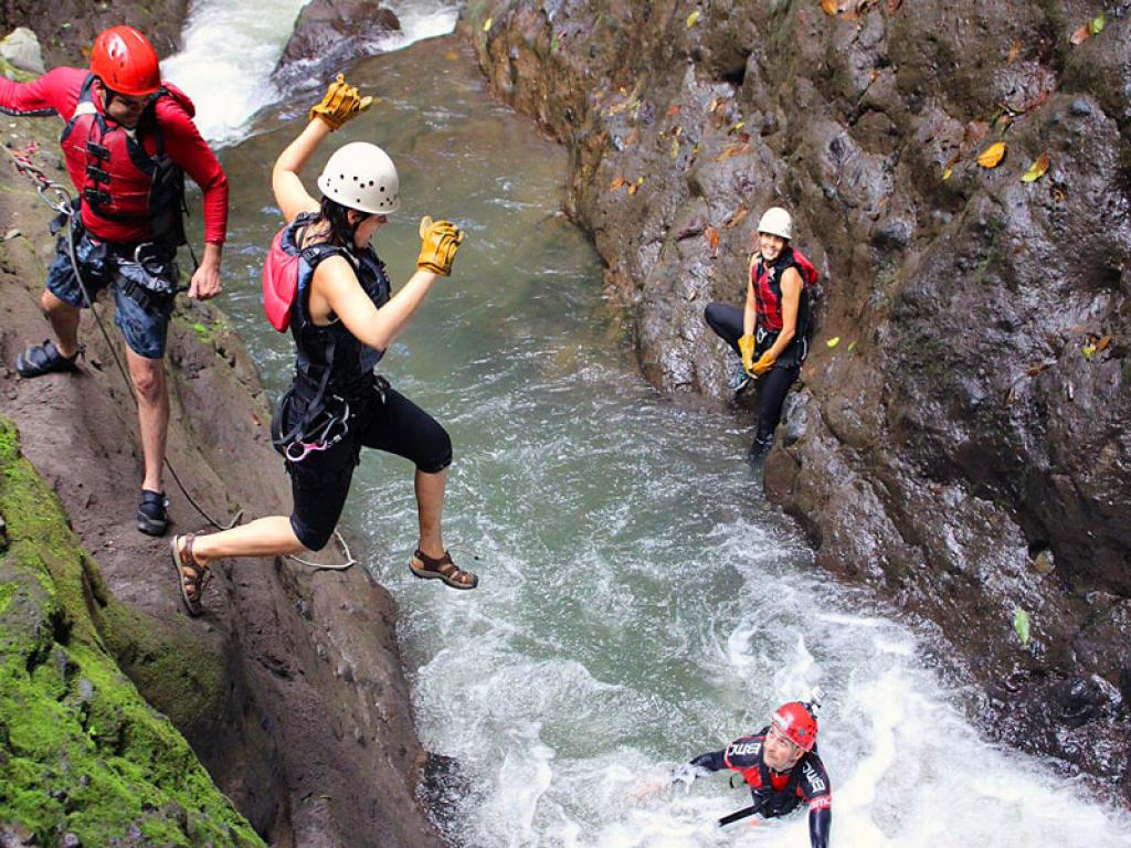Canyoning Costa Rica Waterfall Jumping