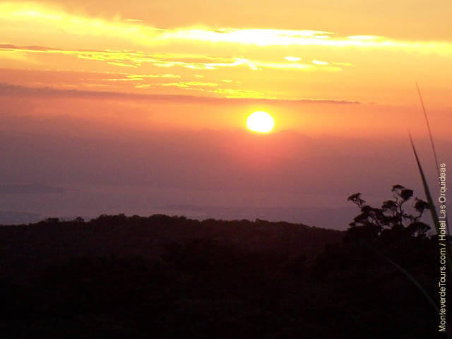 Sunset View from Hotel Las Orquideas