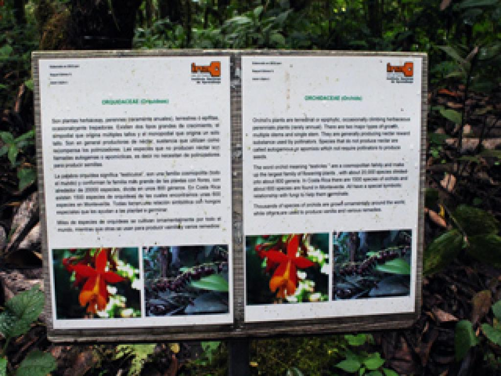 Information Posts on Santa Elena Trails