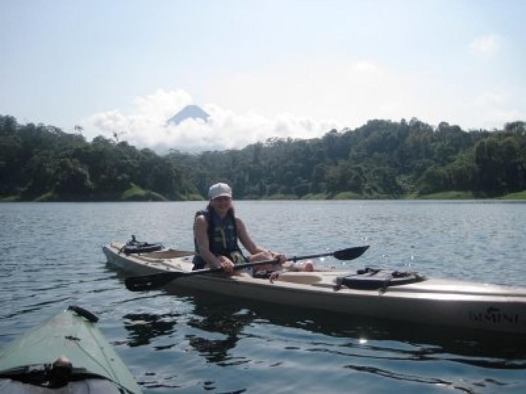 Kayaking on Lake Arenal