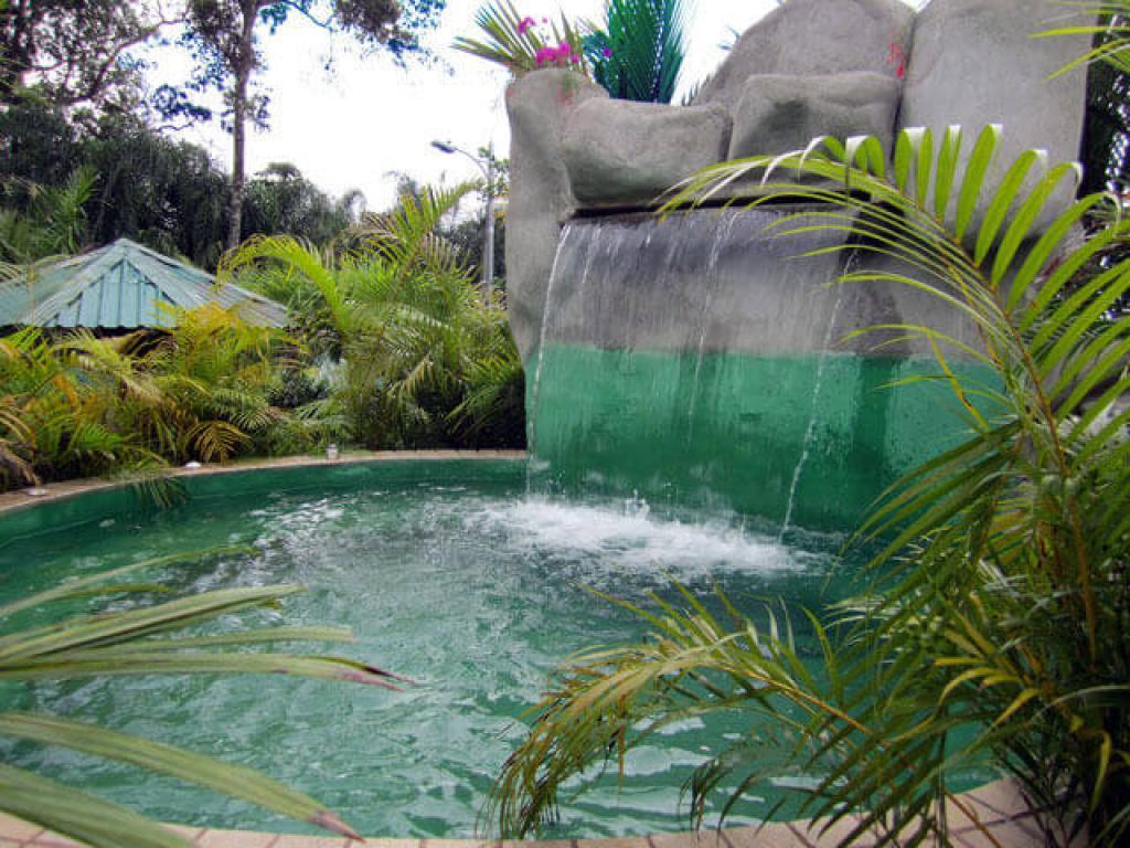 Waterfall at Paradise Hot Springs