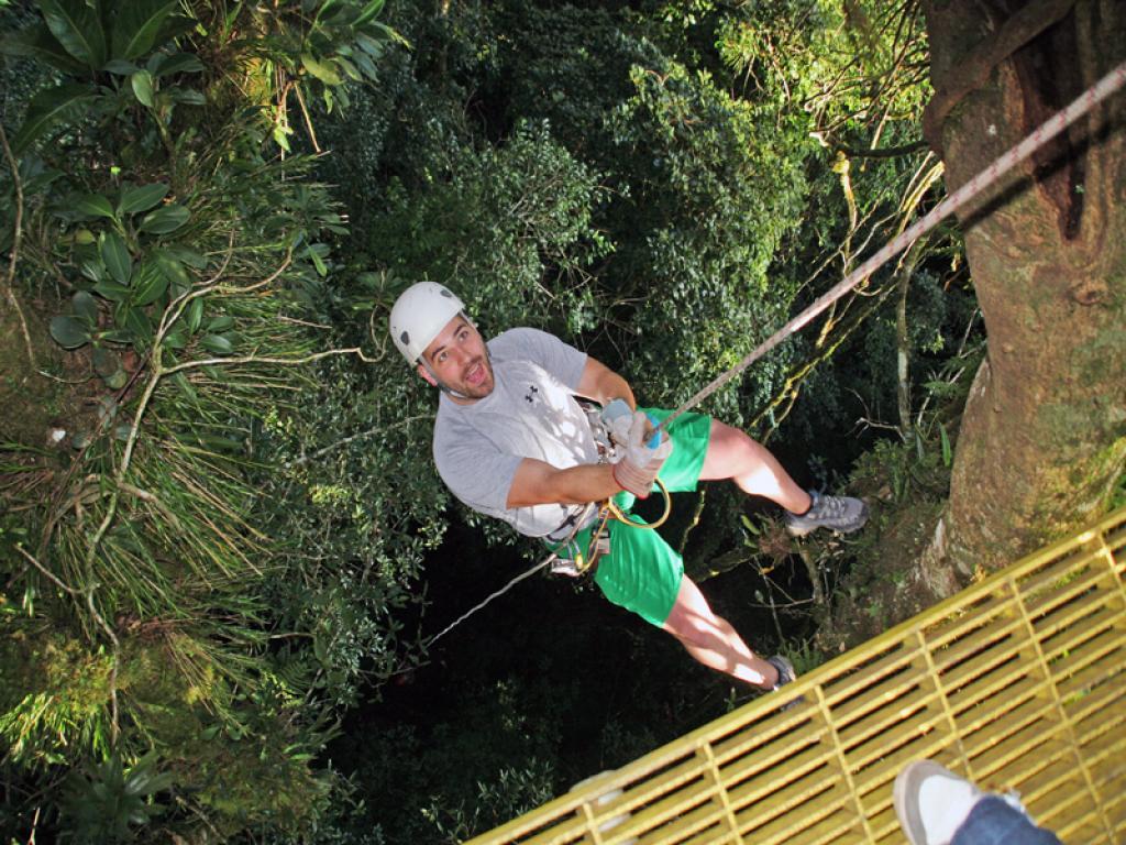 Rappeling Down Original Canopy Monteverde