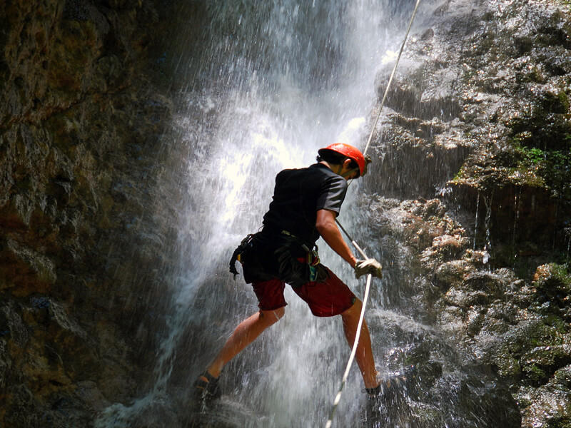 Rappelling Down Waterfalls Costa Rica