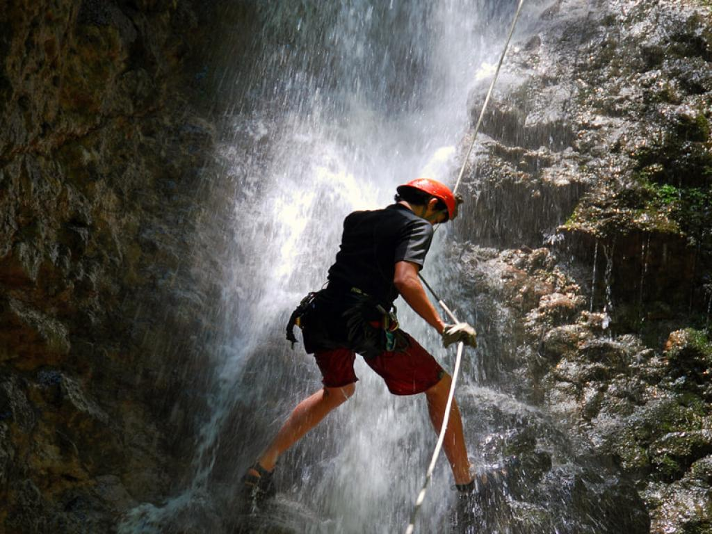 Rappelling Down Waterfalls Costa Rica