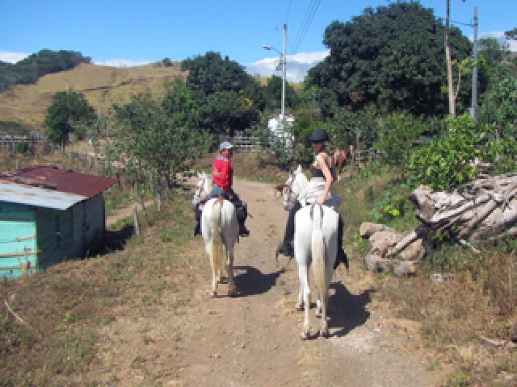 Horseback Riding Through Villages in Costa Rica