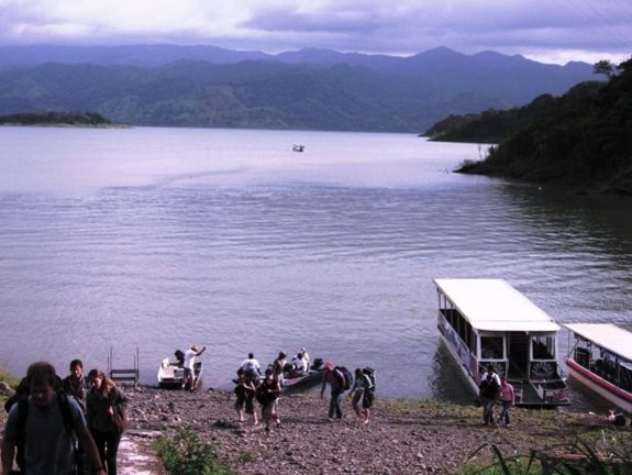 Transport on Arenal Lake to Monteverde Cloud Forest