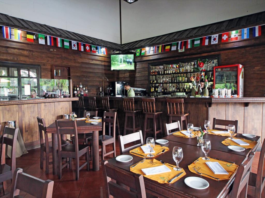 Bar at Volcano Lodge