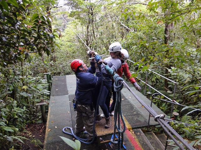Skytrek Monteverde Getting Ready to Fly